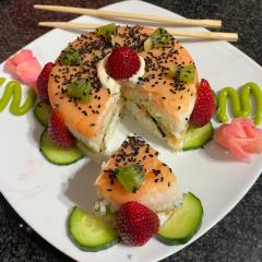 Fruity Salmon Sushi Cake
