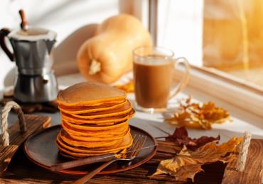 Pumpkin Flapjacks with Orange Sauce