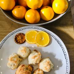 Avas quickNeasy COCONUT meringues with zesty orange zing!!