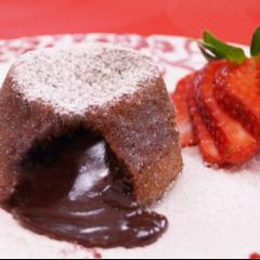 Chocolate Caramel volcano cake
