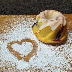Mini Lemon & Blueberry Bundt Cakes