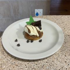 Teia's chocolate eclairs