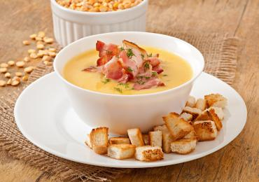 Creamy Bacon and Split-Pea Soup