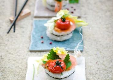 "Watermelon ""Tuna"" Sushi"