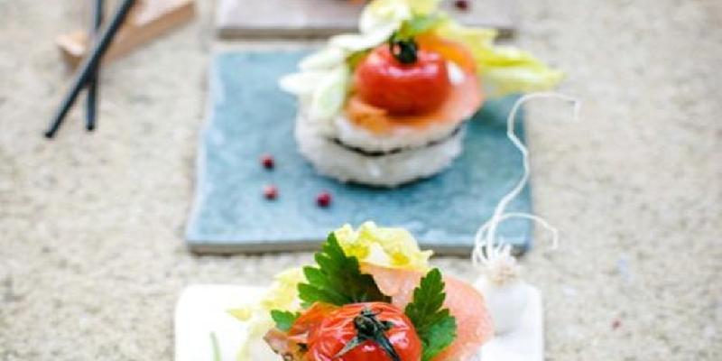 """Watermelon """"Tuna"""" Sushi"""